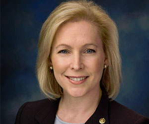Female New York Senator Kirsten Gillibrand
