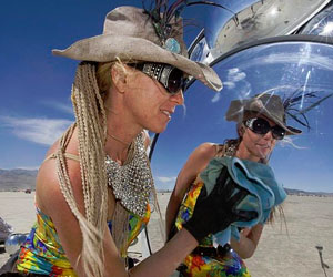 Woman at Burning Man by Christopher Michel
