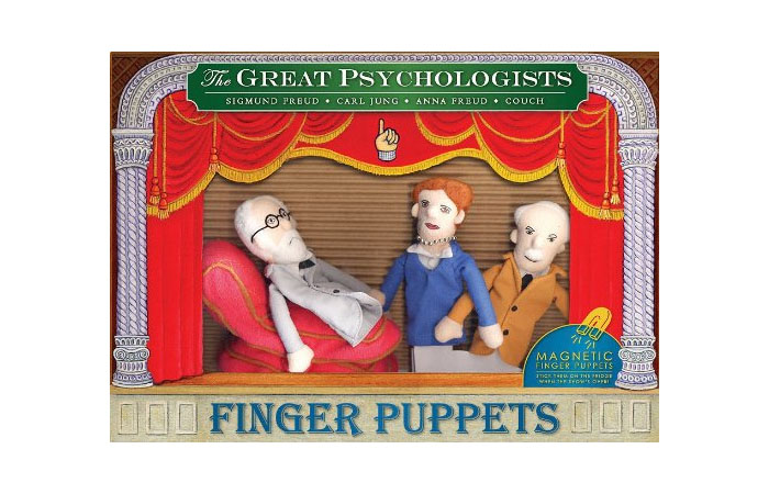 Great psychologists finger puppet set. Click here to buy from Amazon.com