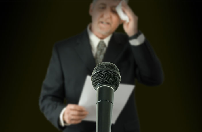 A heartbeat-like vibration can reduce the anxiety associated with public speaking