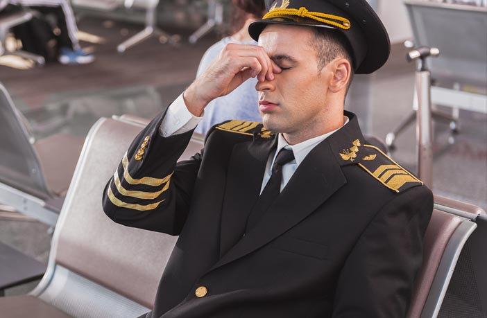 Study suggests it is common for airline pilots work in spite feeling tired, fatigued or unfit to fly